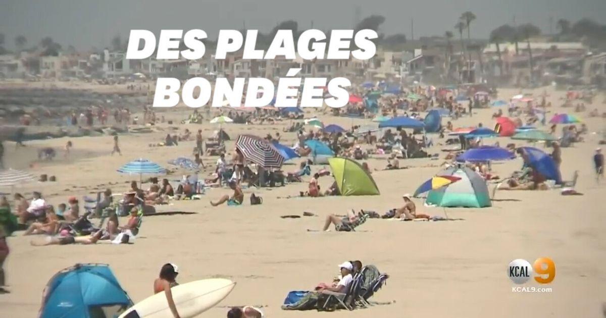 California beaches crowded with rising temperatures despite coronavirus